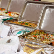 Buffet heated trays — Stock Photo
