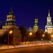 Moscow Kremlin towers in winter night — Stock Photo