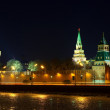 Moscow Kremlin in winter night — Stock Photo #9913747