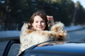 Happy woman holding car keys — Stock Photo