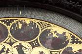 Close up of Astronomical Clock in Prague — Stock Photo