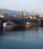 Manosuv bridge. Prague, Czechia — Foto Stock