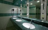 Toilet met paar putten — Stockfoto