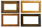 Horizontal gold picture frames — Stock Photo
