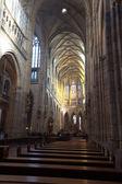 Interior of Saint Vitus Cathedral — Stock Photo