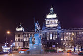 Wenceslas Square in night — Stock Photo