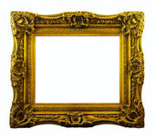 Old bronze frame. Isolated over white background — Stock Photo