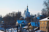 Old street at Vladimir in winter — Stock Photo
