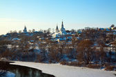 Vladimir downtown from river in winter — Stock Photo