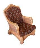 Wattled armchair. Isolated over white — Stock Photo