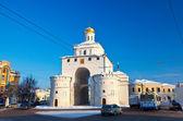 Golden gate på vladimir i vinter — Stockfoto
