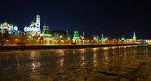 Moscow Kremlin in winter night. Russia — Stock Photo