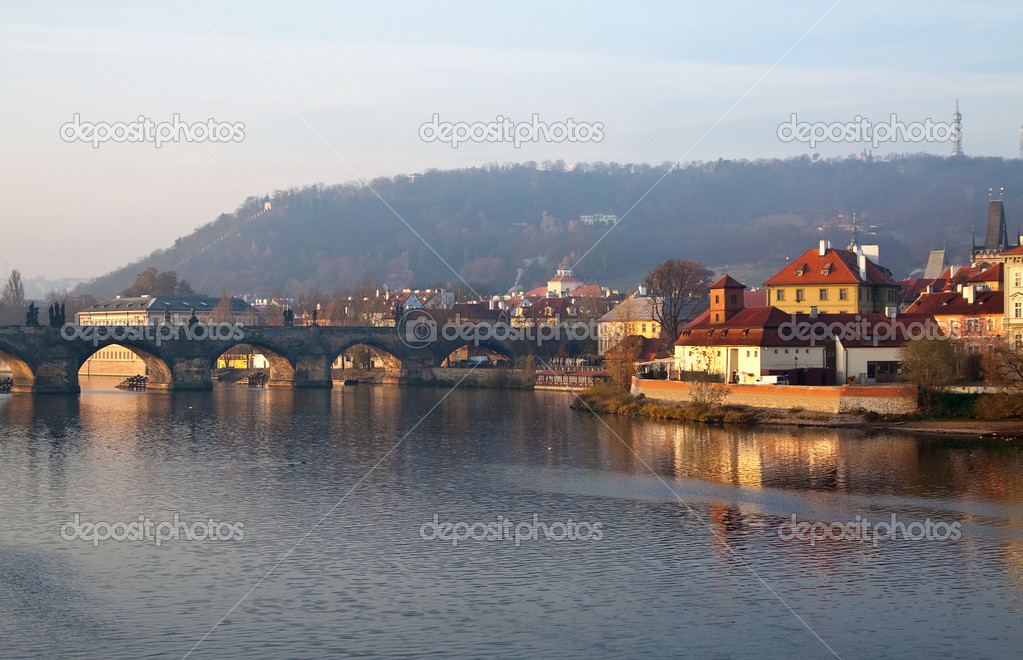 View of  Charles bridge. Prague, Czech Republic  Stock Photo #9913259
