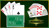Playing cards vector — Stock Vector