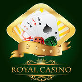 Casino leabel — Stock Vector