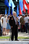 Veterans Parade - MAKEEVKA, UKRAINE — Stock Photo