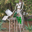 Joke as metallic robot — Stockfoto