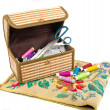 Handmade embroidery and box — Stock Photo #8496741