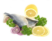 Herring with herbs and lemon — Stock Photo