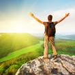 Man on top of mountain — Stock Photo #9839541