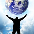 Royalty-Free Stock Photo: Planet Earth in hand