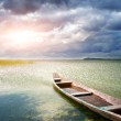 Lonely boat on lake — Stock Photo #9842227