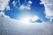 Snow hills. — Stock Photo