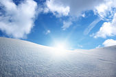 Snow hills. — Stock Photo