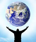 Planet earth el — Stok fotoğraf