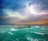 Storm on the sea — Stock Photo