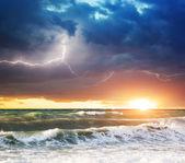 буря на море — Стоковое фото