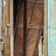 Old broken house entrance detail — Stock Photo #9676507