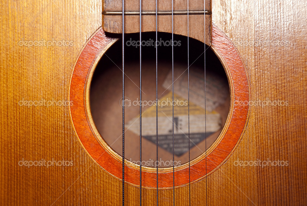 Detail of classic guitar with shallow depth of field — Stock Photo #10516392