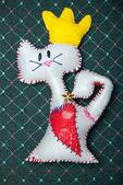 Cartoon cat with hear — Stock Photo