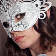 Stock Photo: Womin masquerade mask
