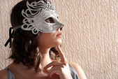 Woman in masquerade mask — Stock Photo