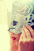 Woman in mask — Foto de Stock