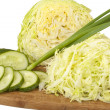 Early cabbage with cucumber salad — Stock Photo