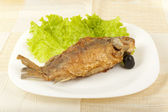 Fish fried carp — Stock Photo
