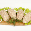 Molded-fry forcemeat kebab — Stock Photo