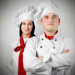 Two beautiful young chef — Stock Photo #10070595