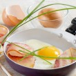 Foto Stock: Fried egg