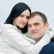 Happy young couple outdoor in spring — Foto de Stock