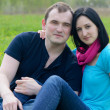 Happy young couple outdoor in spring — Foto Stock