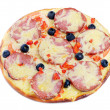Pizza aislado en blanco — Foto de stock #8136895