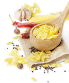 Italian food -pasta and spices — Stock Photo