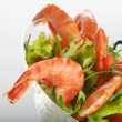 Tiger shrimps salad — Stock Photo