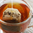 Teabag in the cup - Stock Photo