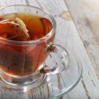 Teabag in the cup — Stock Photo