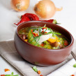 Stock Photo: Bowl of vegetable Soup